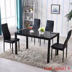 Dining Room Set 4 Chairs Home Kitchen Room Breakfast Furnitu