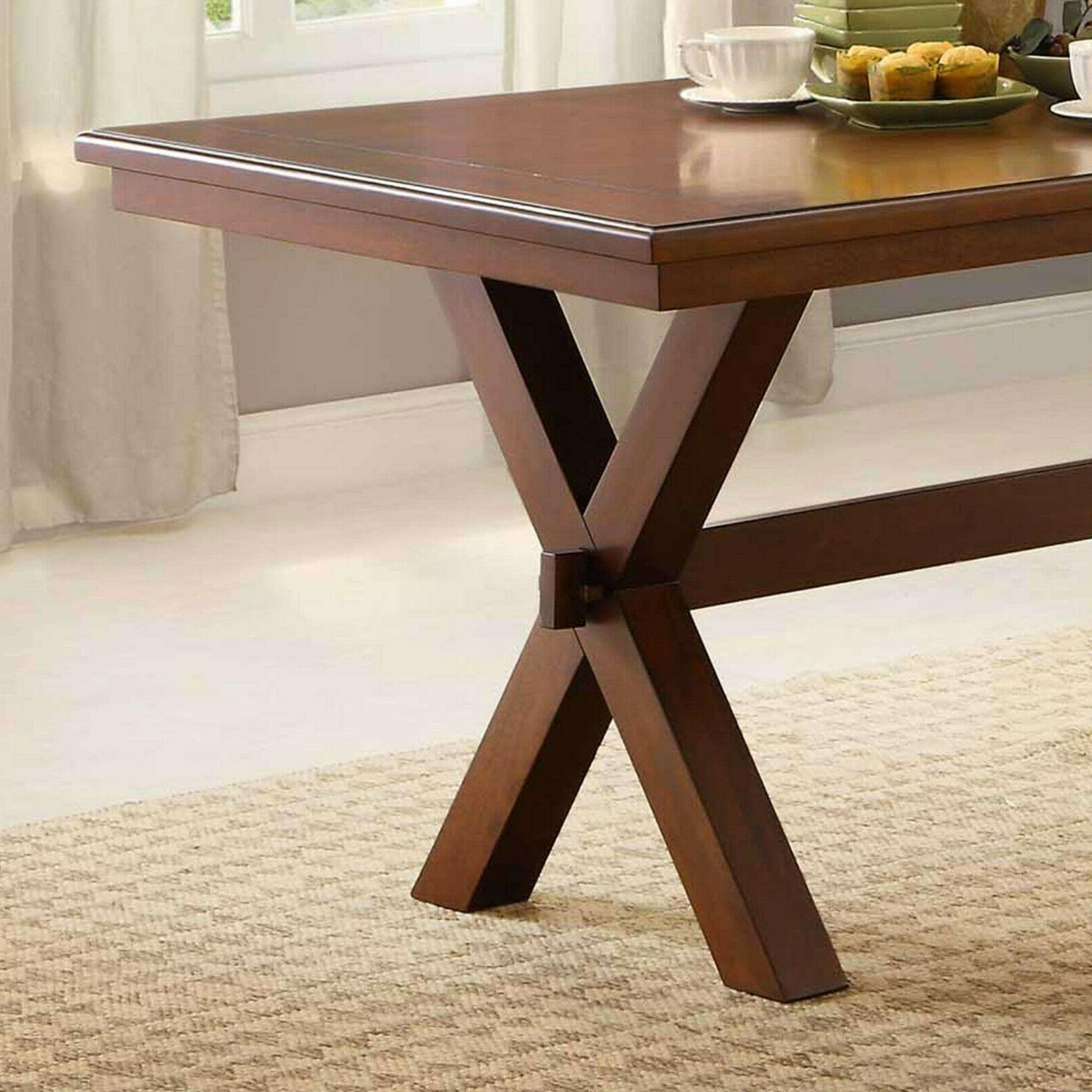 Dining Room Table Farmhouse Wooden And Seat