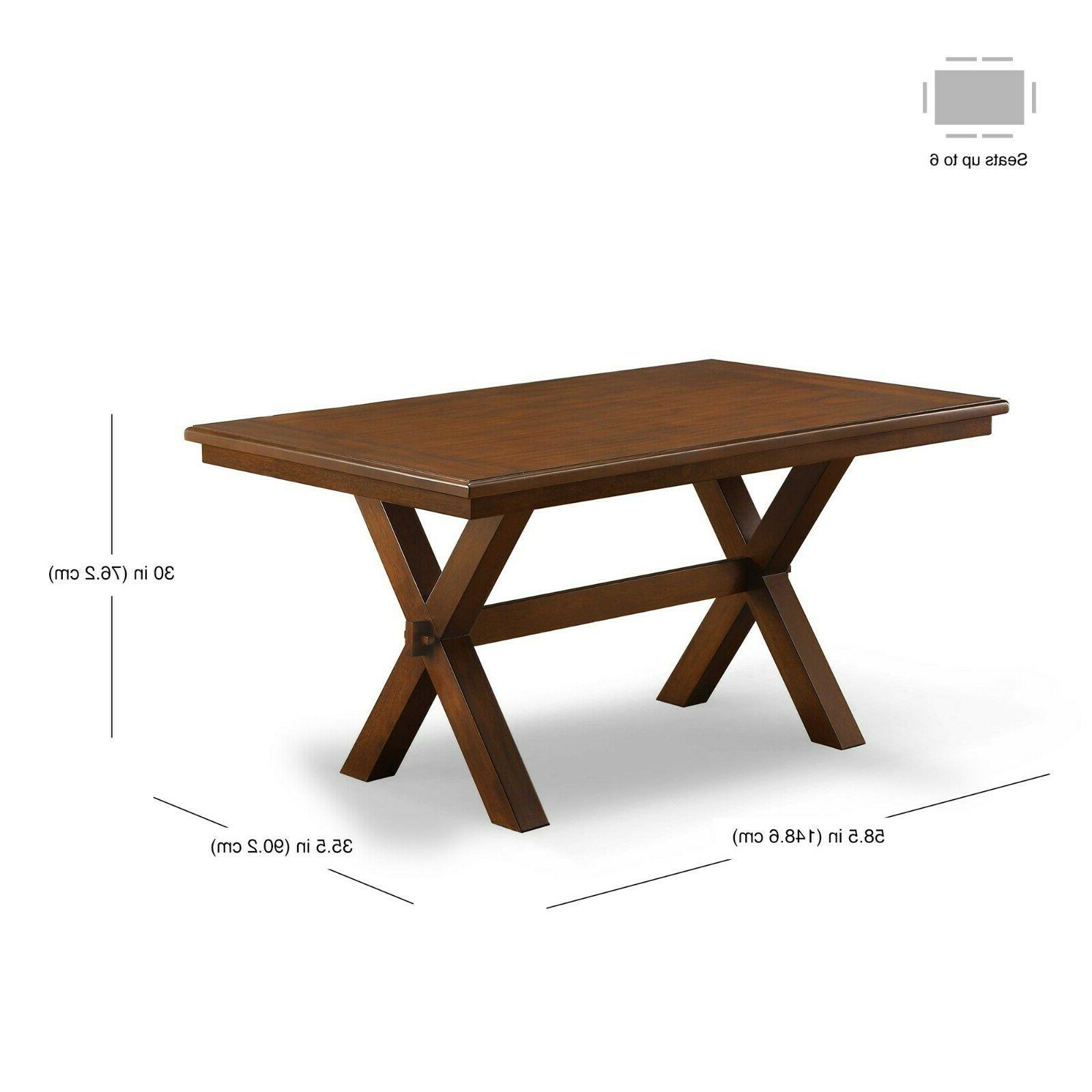 Dining Table Set Farmhouse Wooden Tables And Chairs Seat