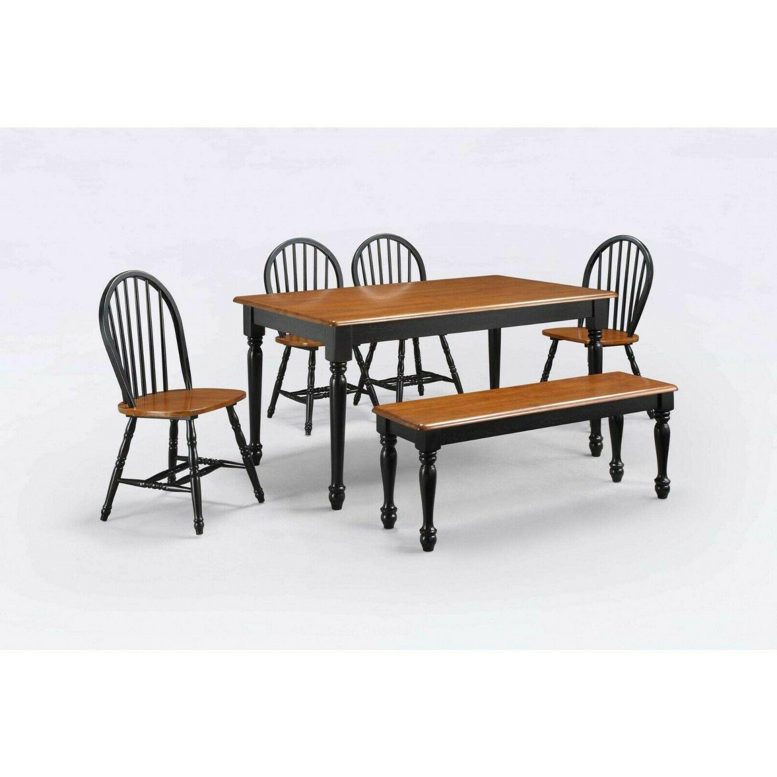 Dining Table Set For 6 Solid Wood Kitchen Chairs Sets