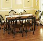 Dining Set 7 piece Farmhouse Table & 6 Windsor Chairs Kitche