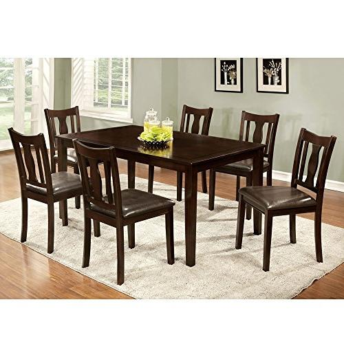 dining set contemporary padded leatherette