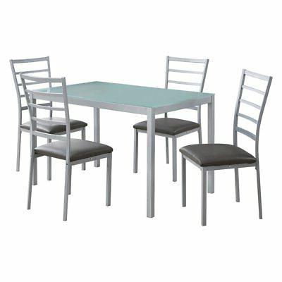 dining set frosted tempered glass