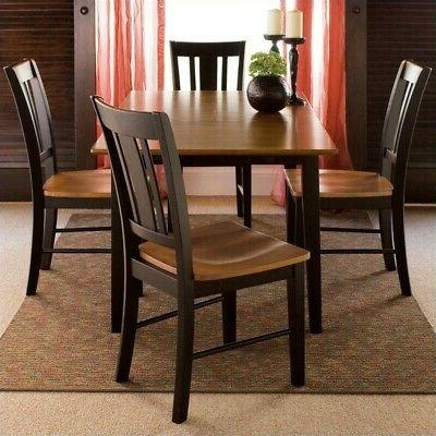 "32"" x 48"" Dining Table with 4 San Remo Chairs"