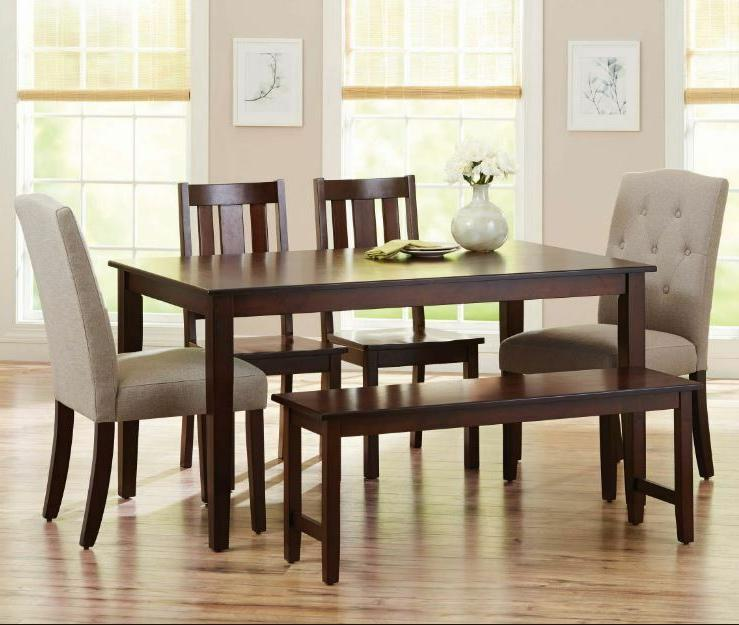 Dining Set 6 Piece Chairs Wooden Nook Wood