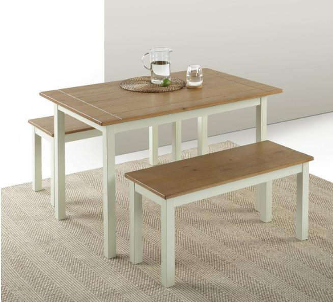 dining table benches set kitchen breakfast nook