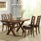 Dining Table Set 5 Piece 4 Chairs Classic Country Farmhouse