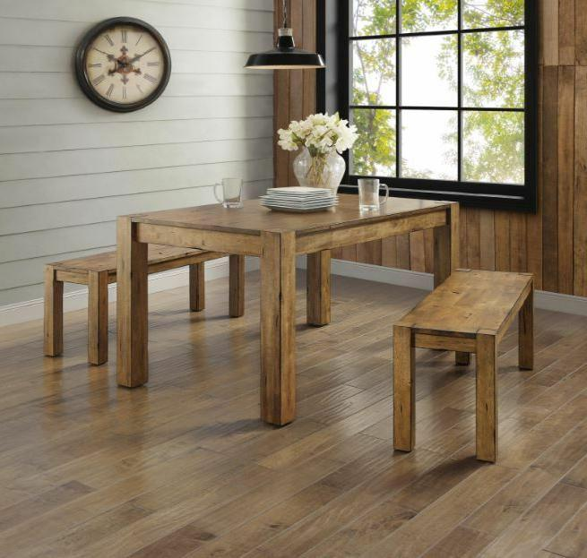 dining table set for 4 rustic farmhouse