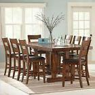 Dining Table Set For 8 Counter Height 9 Piece Vintage Rustic