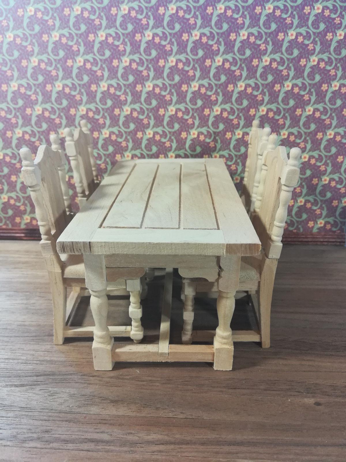 Dollhouse Set of 4 Room Chairs 1:12