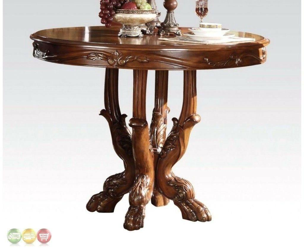 ACME 12160 Dresden Counter Height Dining Table, Cherry Oak F