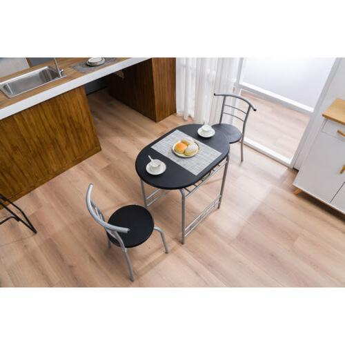 Hot Style Table 2 Chairs Breakfast Desk Chairs 3 Color
