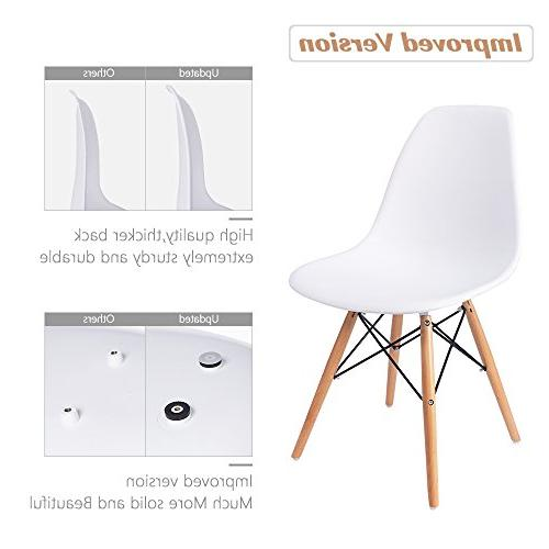 Furmax Pre Style Dining Century White DSW Chair, Plastic Chair for Dining, Bedroom, Living Room Chairs