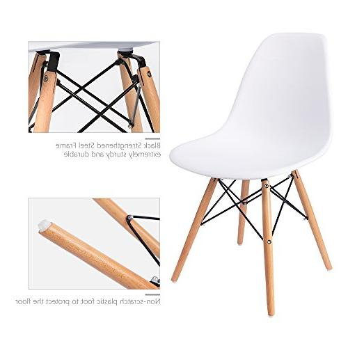 Furmax Assembled Style Chair Mid Century Modern Chair, Shell Lounge Chair for Kitchen, Bedroom, Living Room Side Chairs