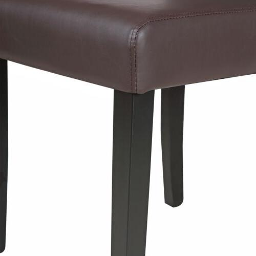 Set of Dining Chair Kitchen Room Brown