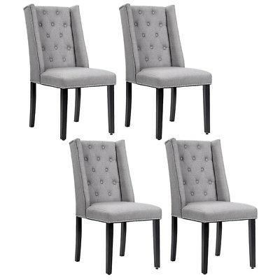 elegant dining side chairs button