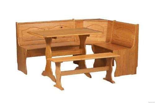 Essential Breakfast Nook Solid Wood Set Table Booth
