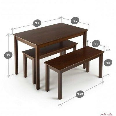 Espresso Wood Benches Home Zinus New