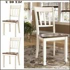 Farmhouse Cottage White Wood Dining Chairs Home Dining Room