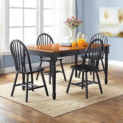 FARMHOUSE DINING Country Kitchen Solid Wood Back