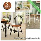Farmhouse Dining Chairs Set of 2 Kitchen Room Wood Windsor C