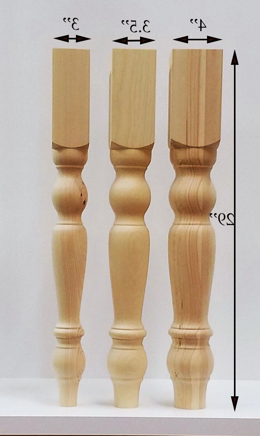 Farmhouse Dining Table Legs- Wood Legs. set of 4 hand made w