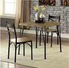 Farmhouse Dining Table Set Small Rustic 3 Piece Wood Metal K