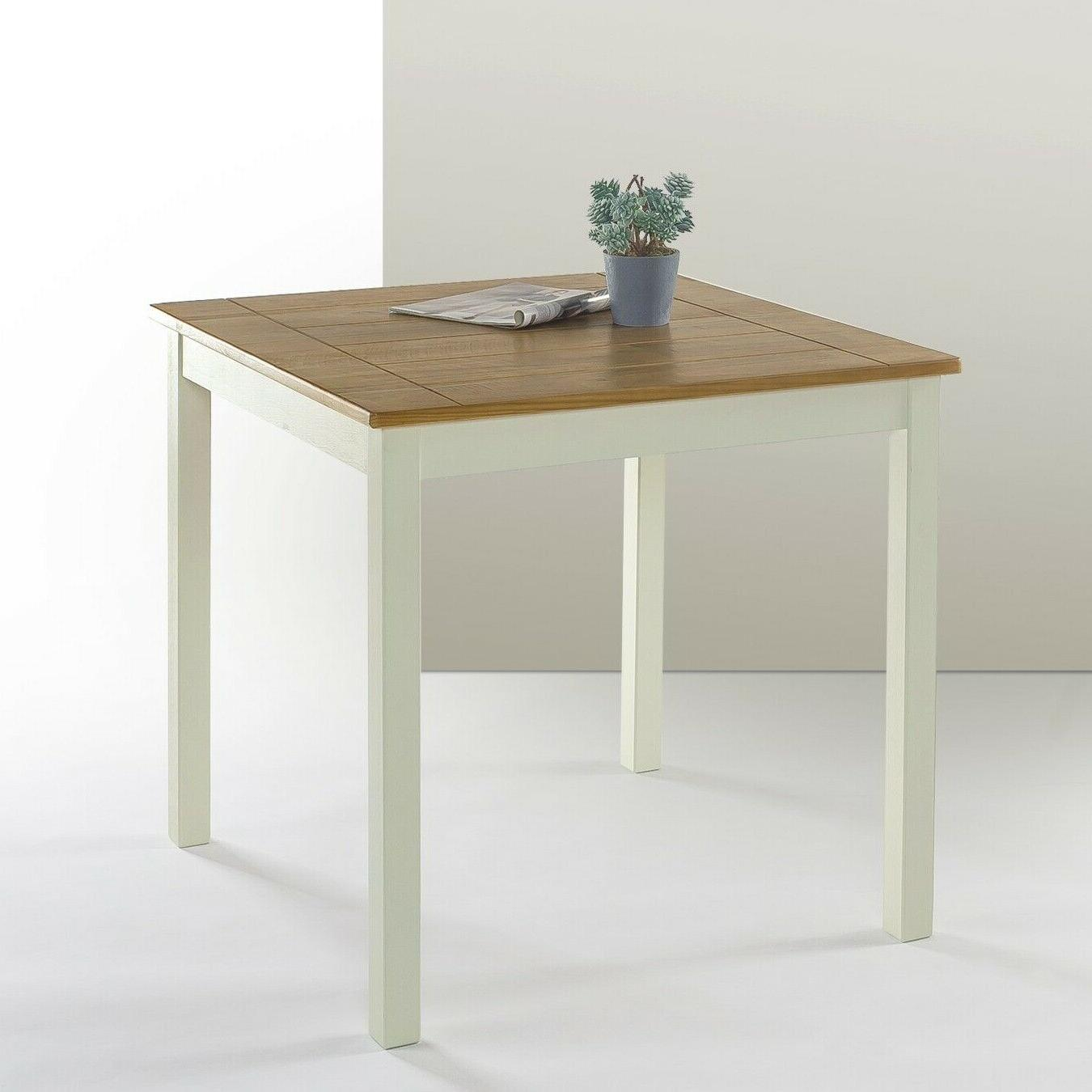 farmhouse square wood dining table