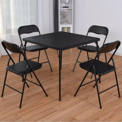 Folding 5Pcs/set Dining Table Set Chair & 4 Chairs Kitchen G