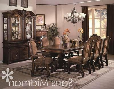 Formal 12 piece Renae Dining Room Set, Table, 10 Chairs, Chi