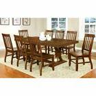Furniture of America Fort Wooden 9 Piece Dining Table Set, 1
