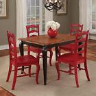 French Countryside black and oak 5-piece Dining Set by Home