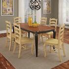 French Countryside black and oak 7-piece Dining Set by Home