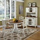 French Countryside Oak and Rubbed White 5 Piece Dining Set R