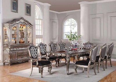 Acme Furniture Chantelle 9 Piece Dining Table Set Antique Si