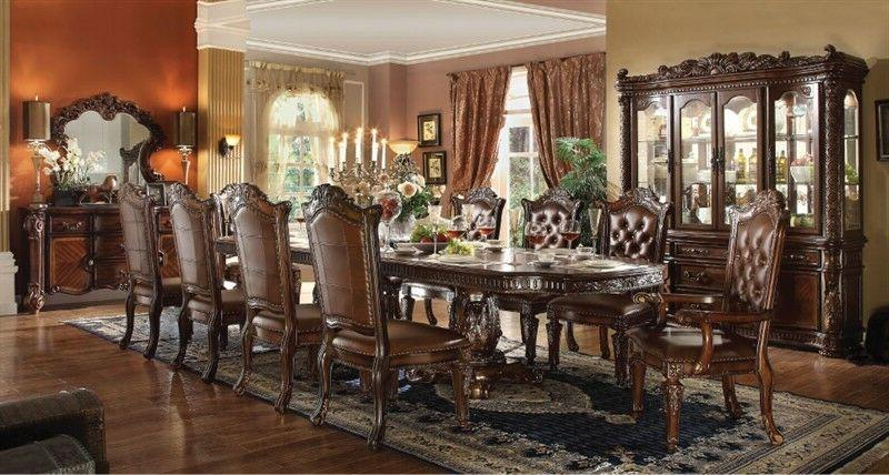 Acme Furniture Vendome Cherry 11 Piece Dining Table Set