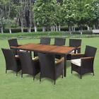 Garden Dining Set 17 Piece Poly Rattan Wicker Outdoor Furnit