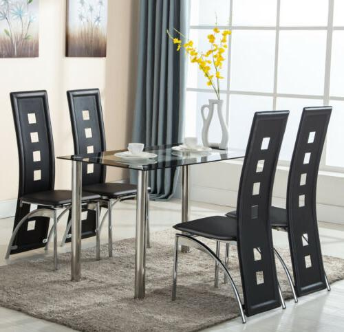 5 Table Set 4 Leather Furniture