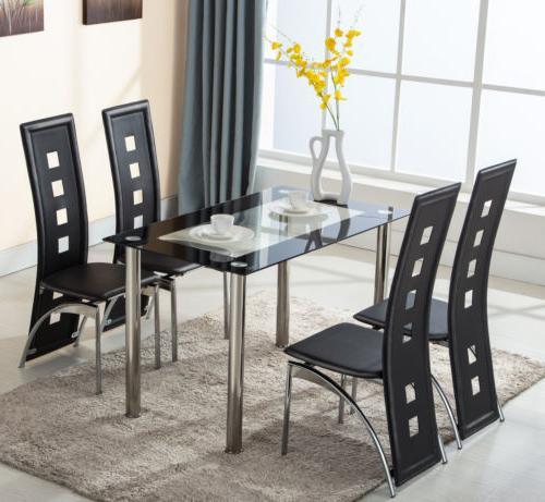 glass dining table set 4