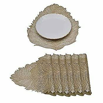 Gold Placemat for Inches Set Pieces Heat