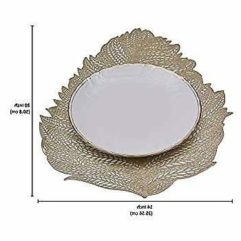 Gold Leaf Cutout Placemat for Inches of