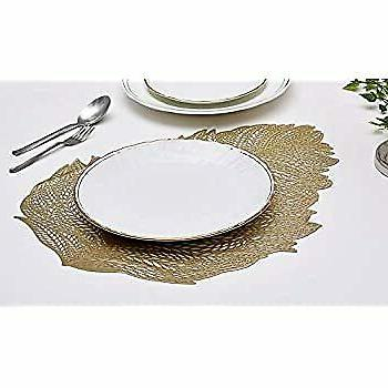 Gold Leaf Cutout Placemat for Table Inches of 6 Pieces