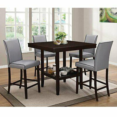 Home Source Grigio 5 Piece Height Dining
