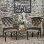 Hallie Traditional Velvet Dining Chair  by Christopher Knigh