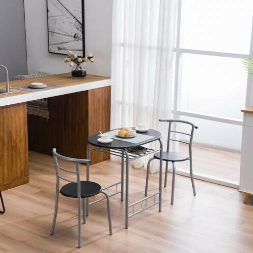 High Metal Table and 2 Chairs Kitchen