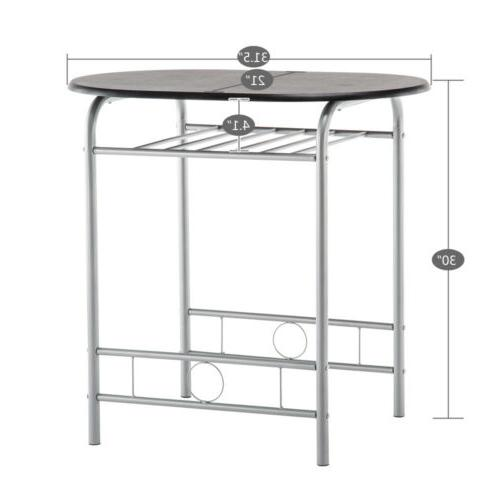 High Metal Dining Set and Home Kitchen Room