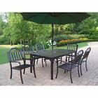 Hometown 8-Piece Outdoor Dining Set with Green Umbrella