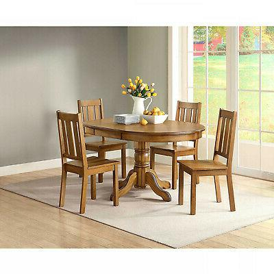 Honey Dining Set Style Kitchen Wood Seat