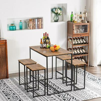 Hot 5 Piece Wood Dining Table Set Chairs Kitchen Room Furniture NEW