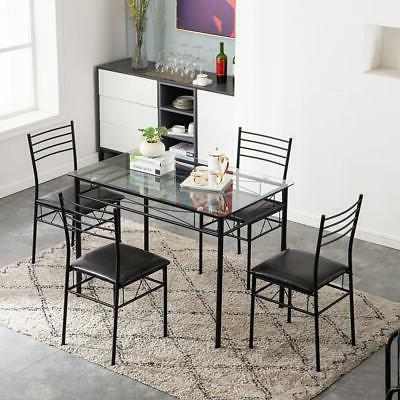 Hot Kitchen Piece 4 Glass Dining Room Furniture